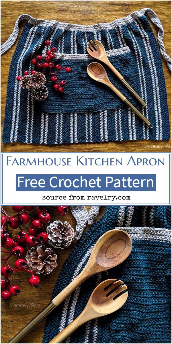 Farmhouse Kitchen Crochet Apron Pattern