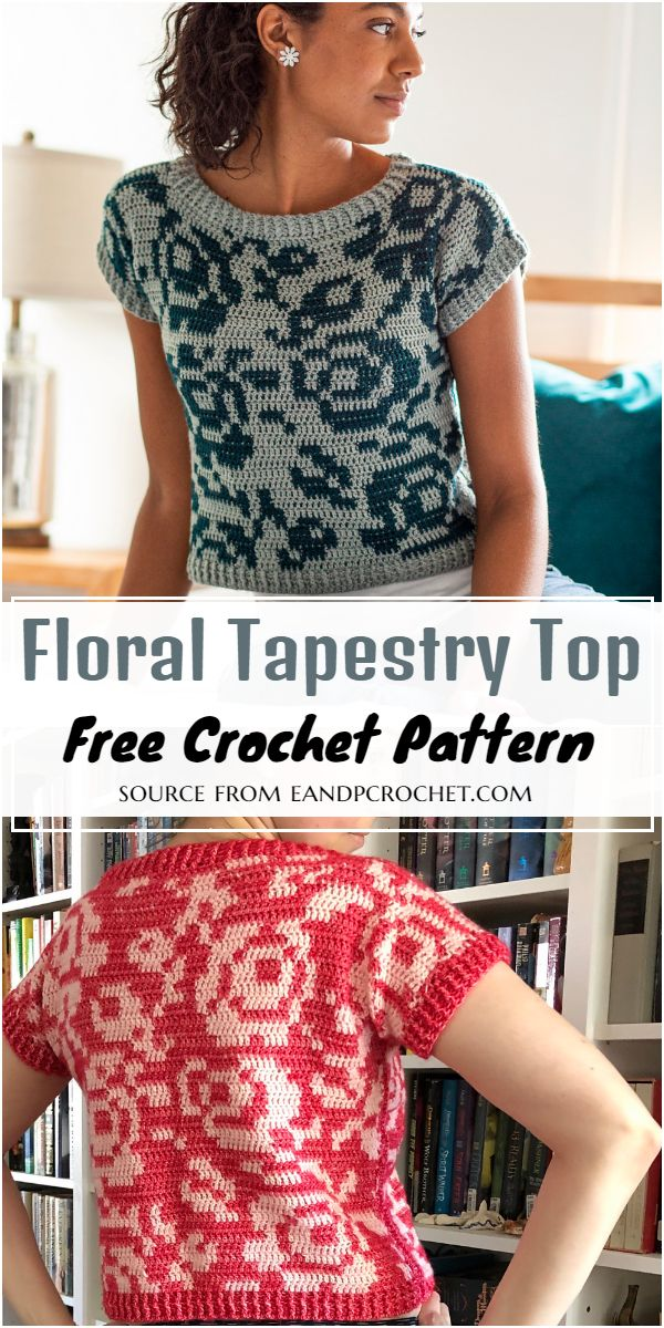 Floral Tapestry Top Crochet Pattern