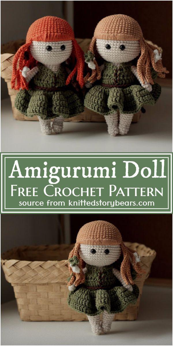 Free Crochet Amigurumi Doll Pattern