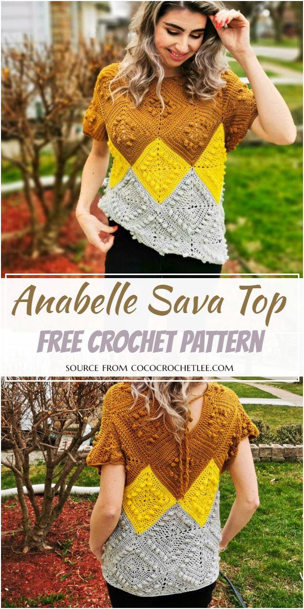 Free Crochet Anabelle Sava Top Pattern