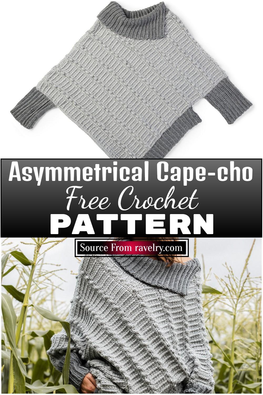 Free Crochet Asymmetrical Cape-cho Pattern