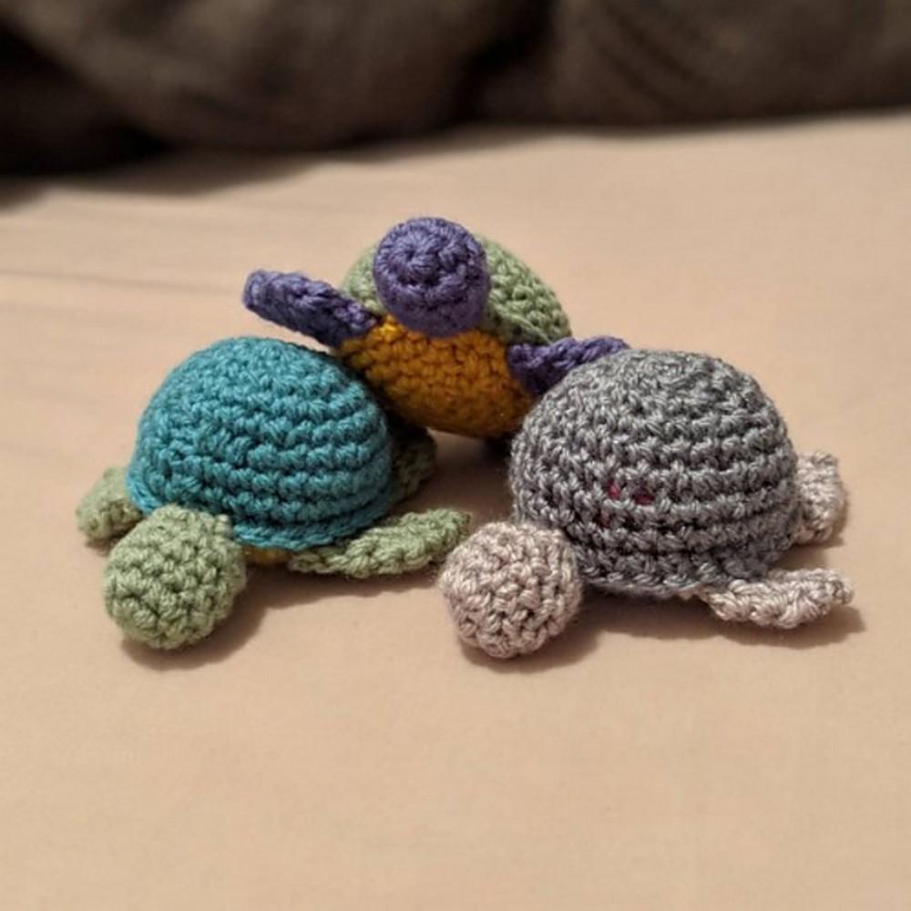 Free Crochet Baby Turtle Toy Pattern
