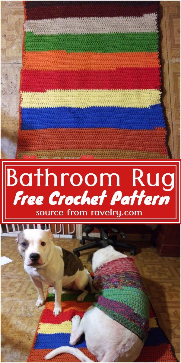 Free Crochet Bathroom Rug Pattern