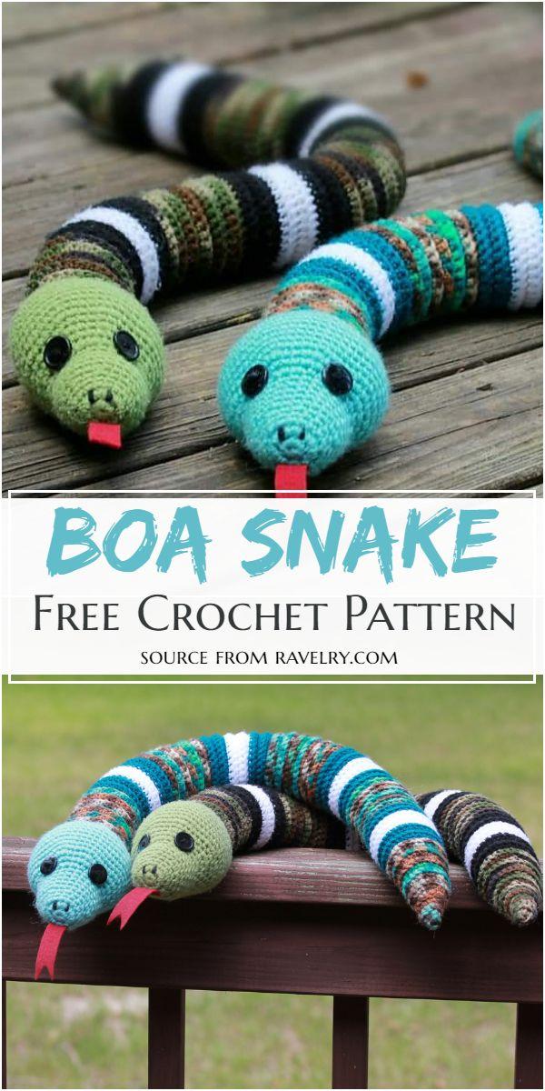 Free Crochet Boa Snake Pattern