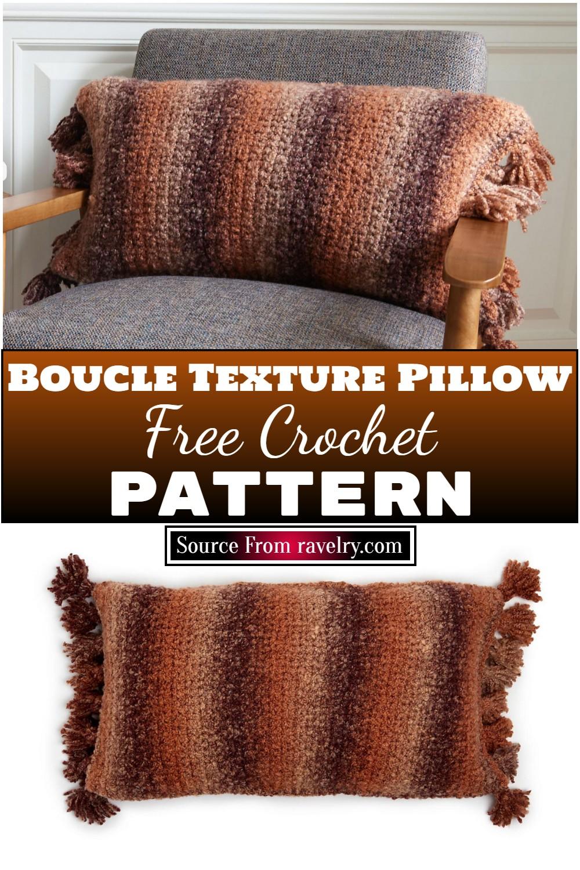 Free Crochet Boucle Texture Pillow Pattern