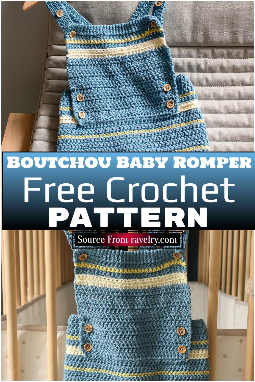 Free Crochet Boutchou Baby Romper pattern
