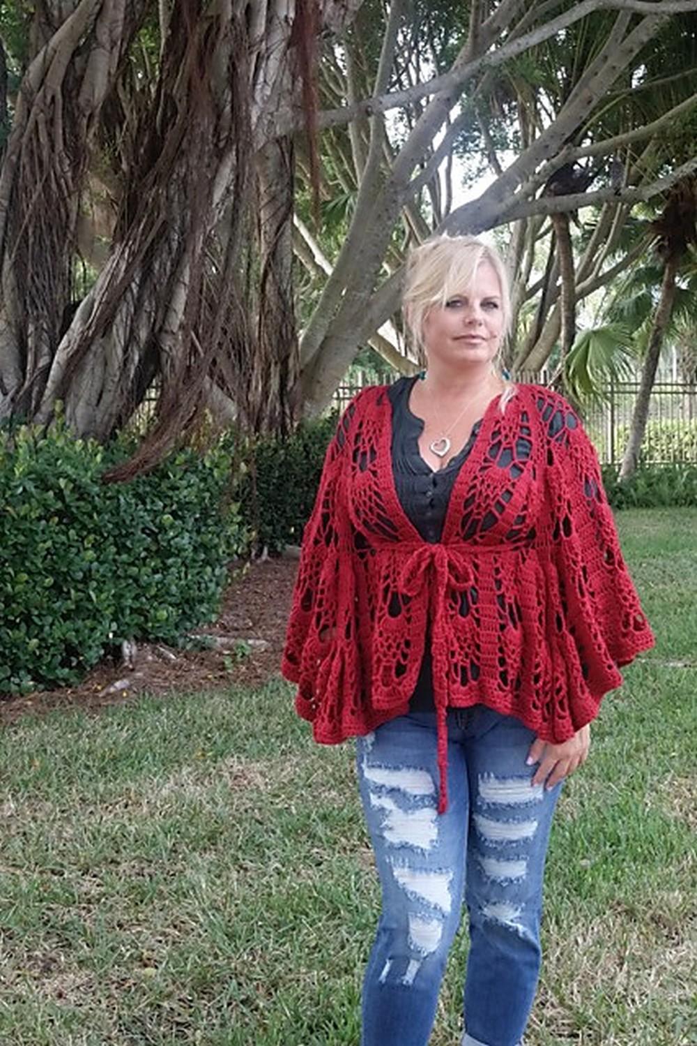 Free Crochet Brave Vinga Belted Cape Pattern