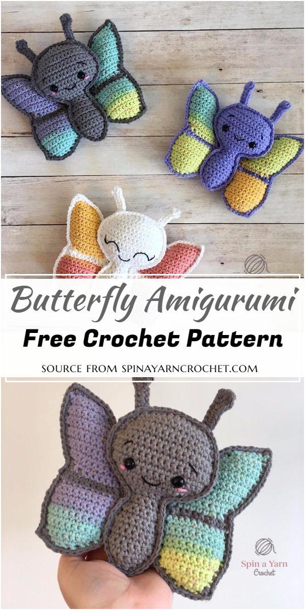 Free Crochet Butterfly Amigurumi Pattern