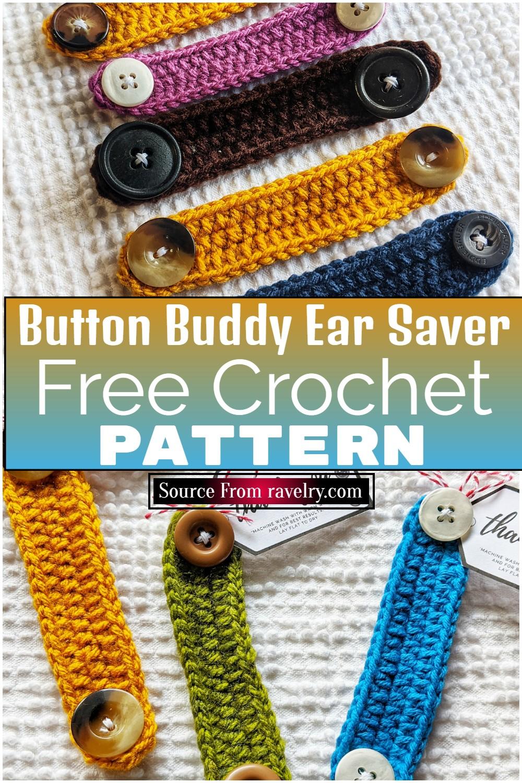 Free Crochet Button Buddy Ear Saver Pattern