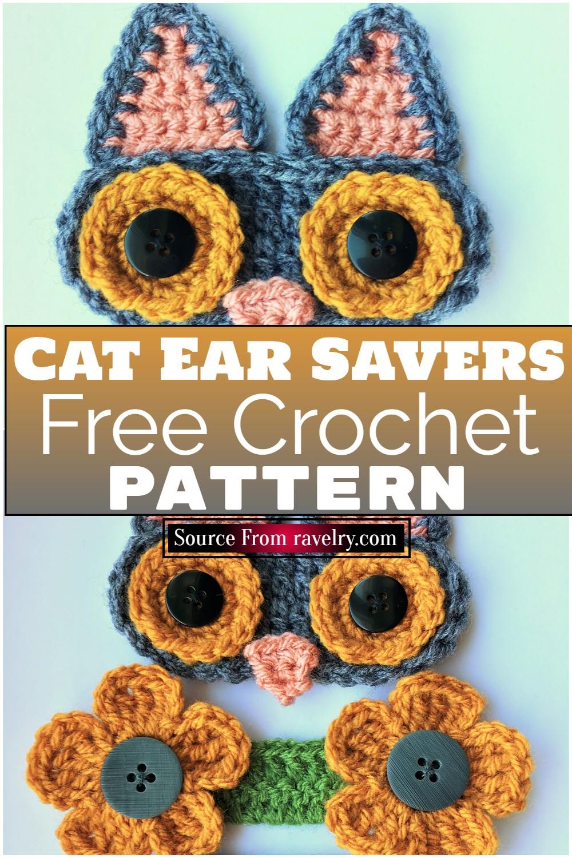 Free Crochet Cat Ear Savers Pattern
