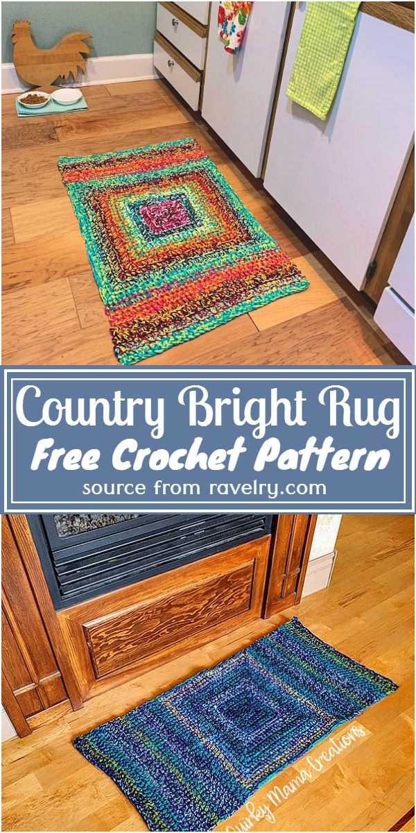 Free Crochet Country Bright Rug Pattern