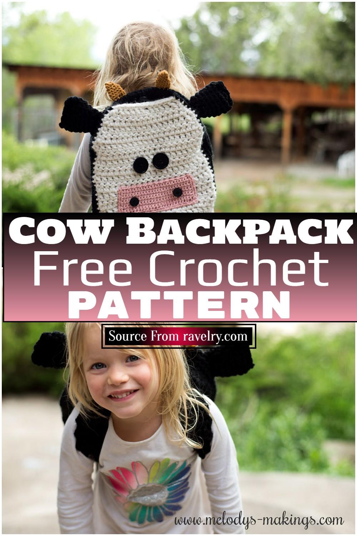 Free Crochet Cow Backpack Pattern