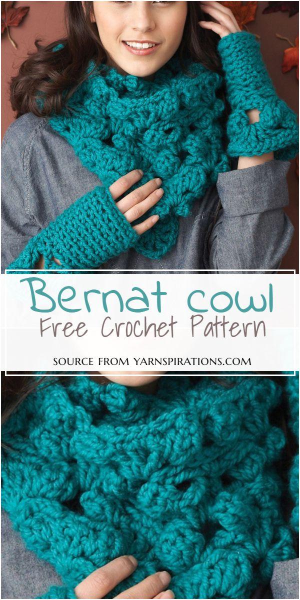 Free Crochet Cowl Bernat Pattern