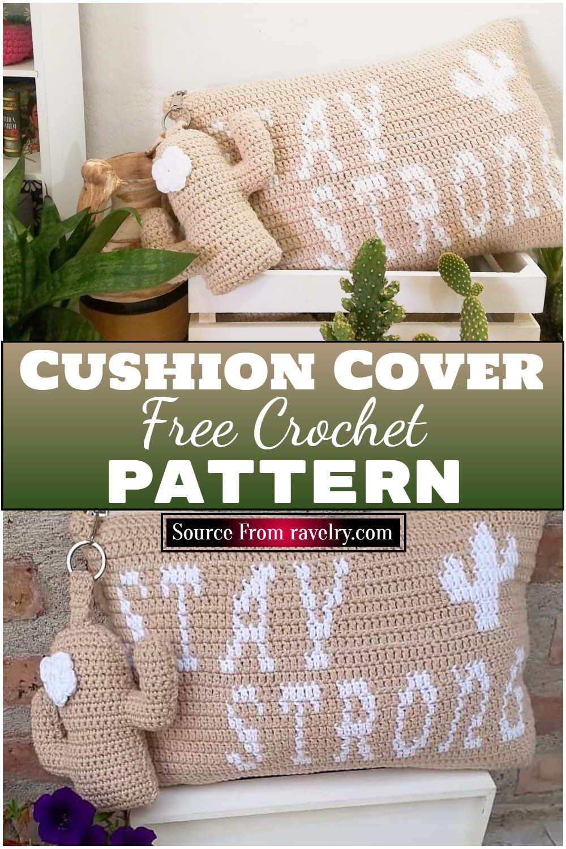 Free Crochet Cushion Cover Pattern