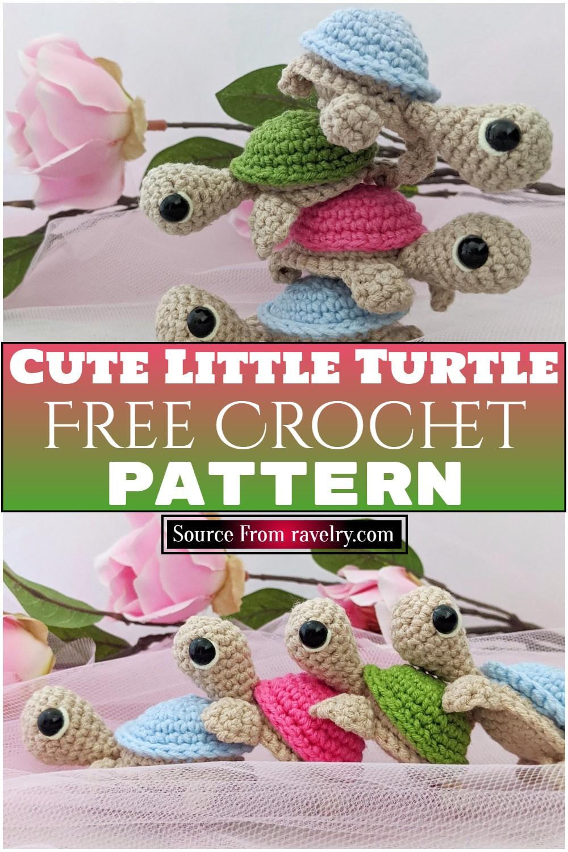Free Crochet Cute Little Turtle Pattern
