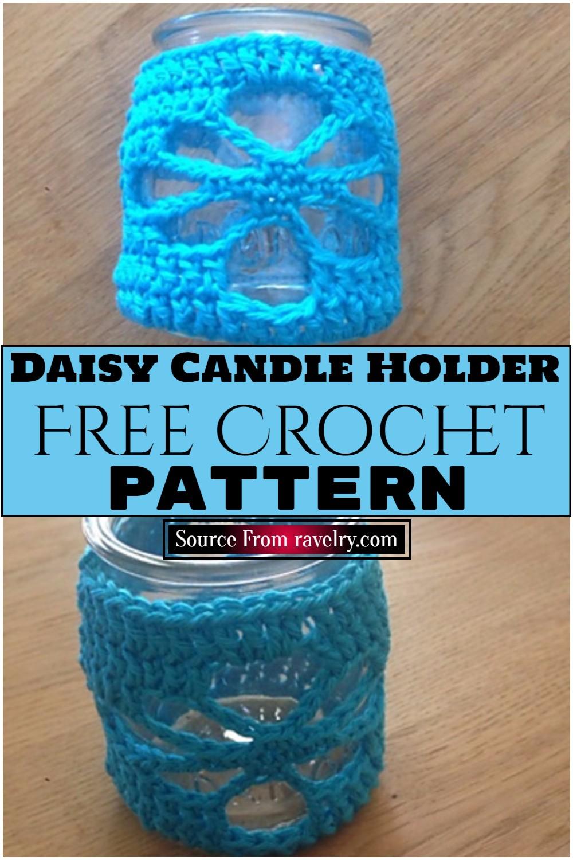 Free Crochet Daisy Candle Holder Pattern