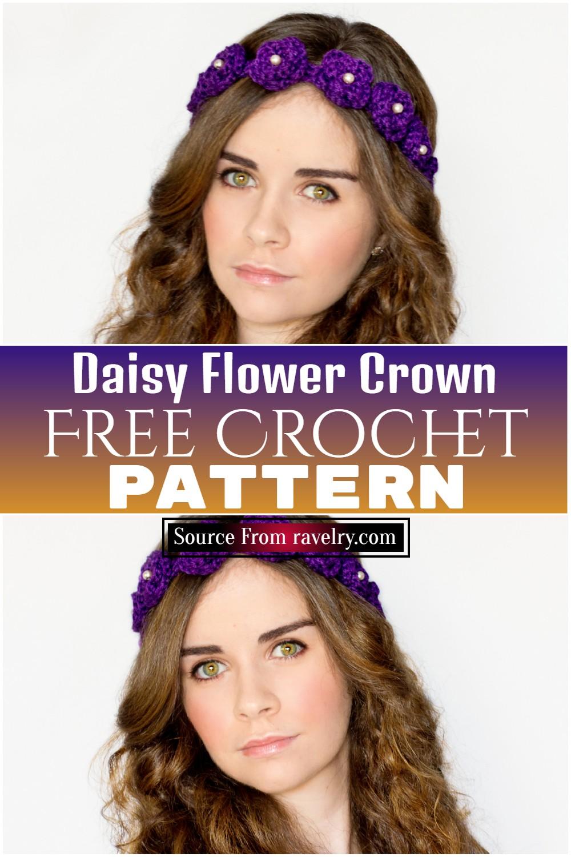 Free Crochet Daisy Flower Crown Pattern