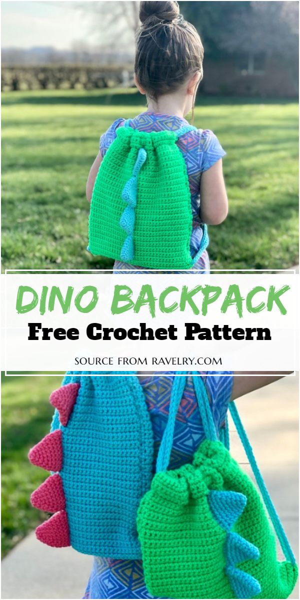 Free Dino Pattern for making adorable sack for your little one