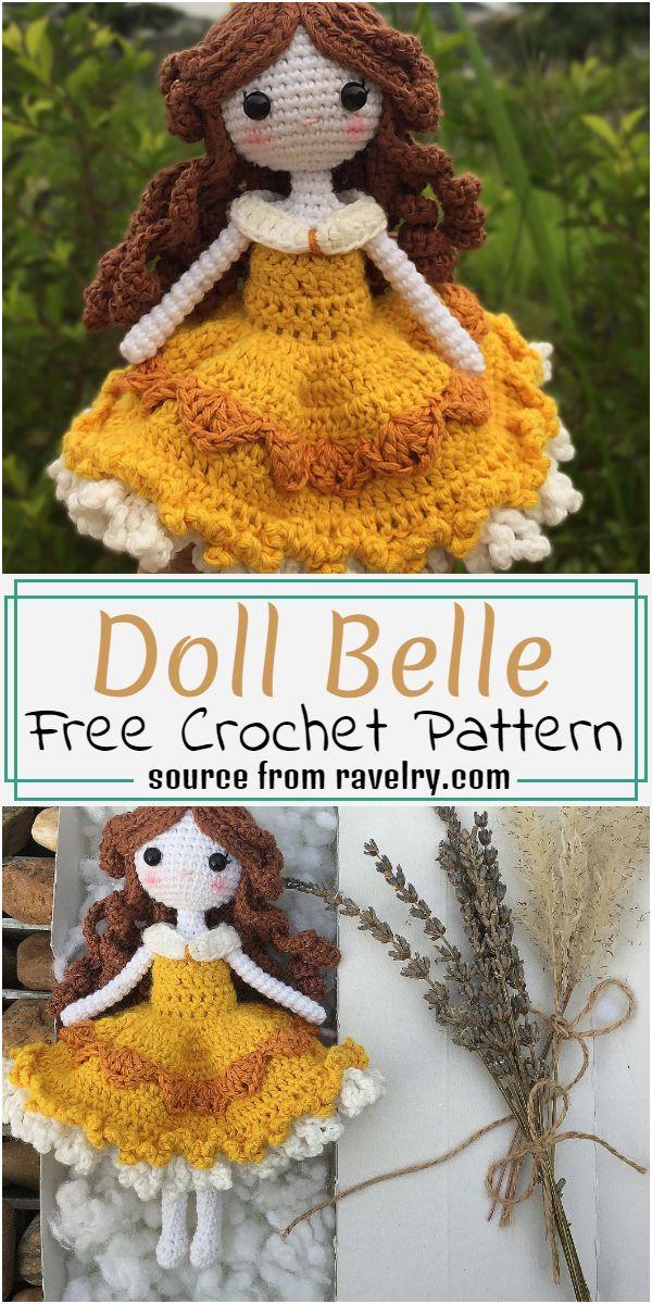 Free Crochet Doll Belle Pattern