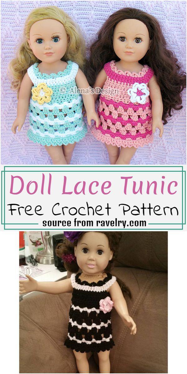 Free Crochet Doll Lace Tunic Pattern