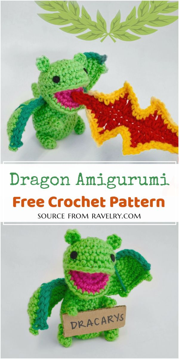 Free Crochet Dragon Amigurumi Pattern