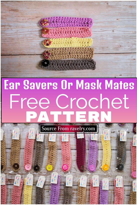 Free Crochet Ear Savers Or Mask Mates Pattern