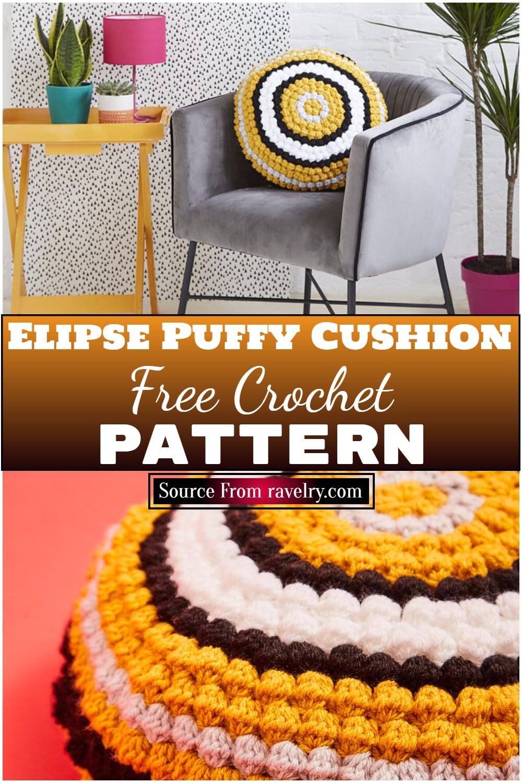 Free Crochet Elipse Puffy Cushion Pattern