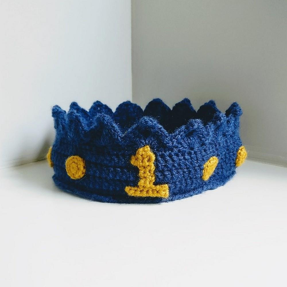 Free Crochet First Birthday Crown Pattern
