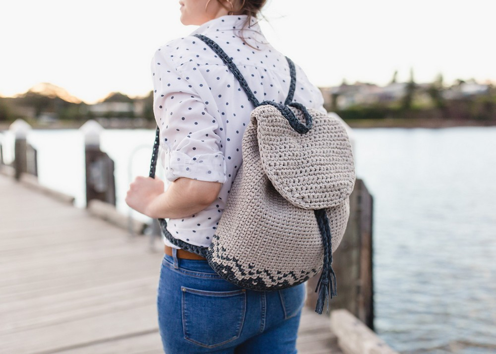 Free Crochet Florence Backpack pattern