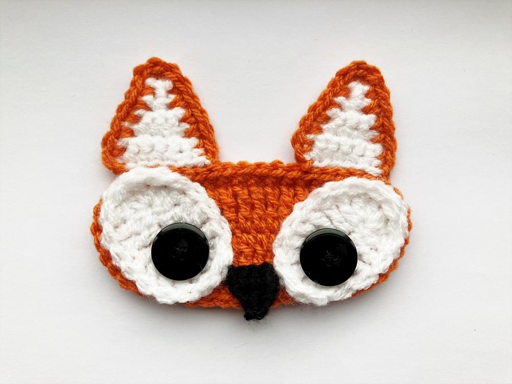 Free Crochet Fox Ear Saver Pattern