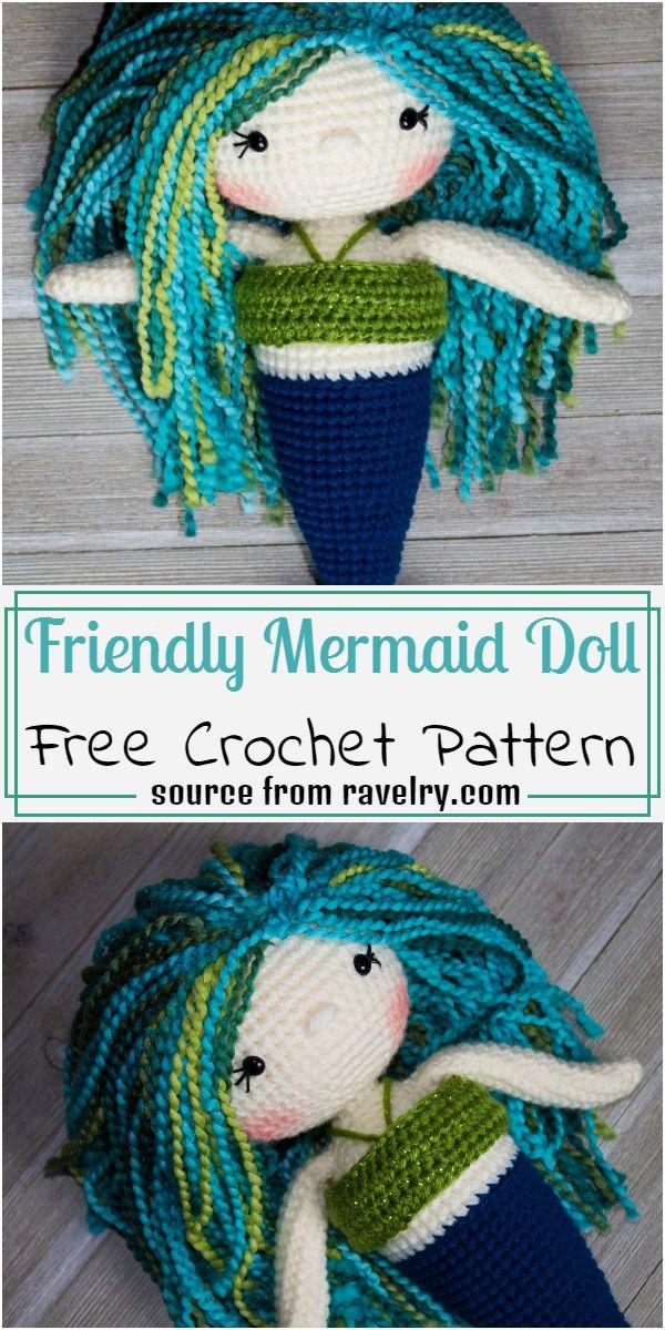 Free Friendly Mermaid Pattern