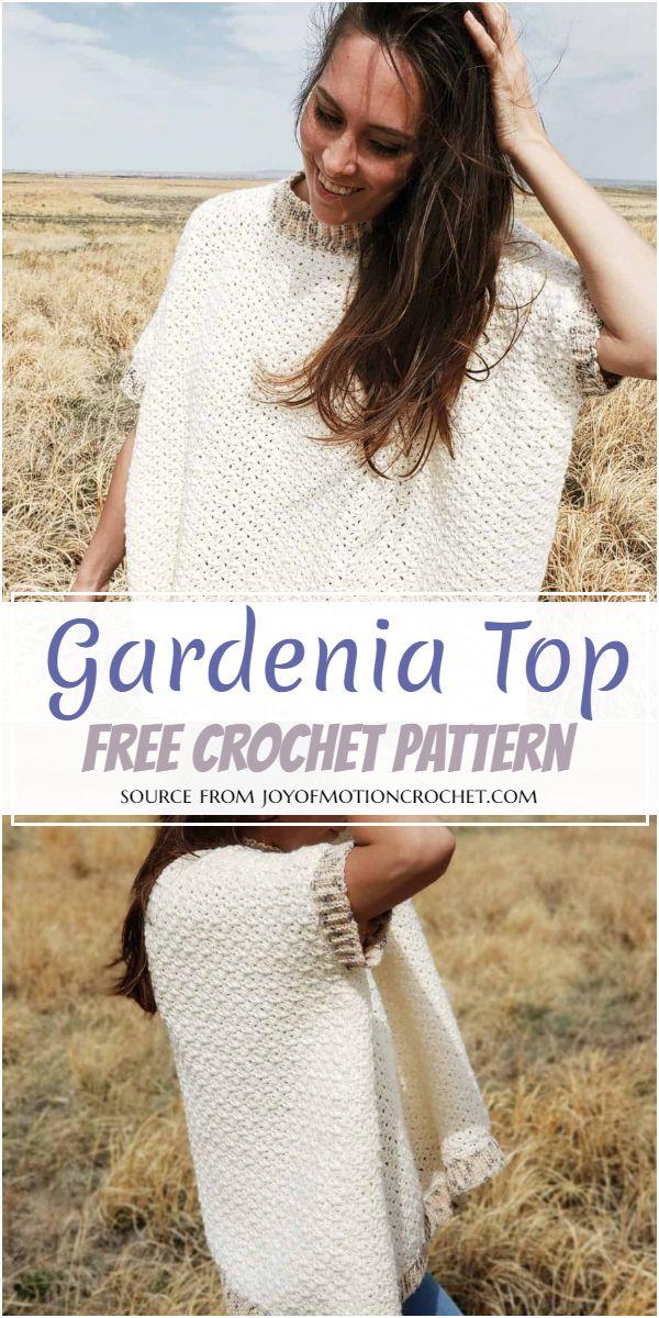 Free Crochet Gardenia Top Pattern