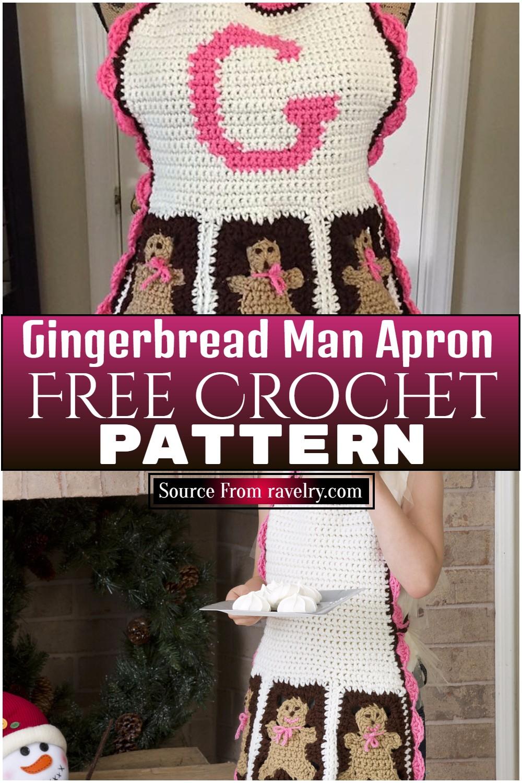 Free Crochet Gingerbread Man Apron Pattern