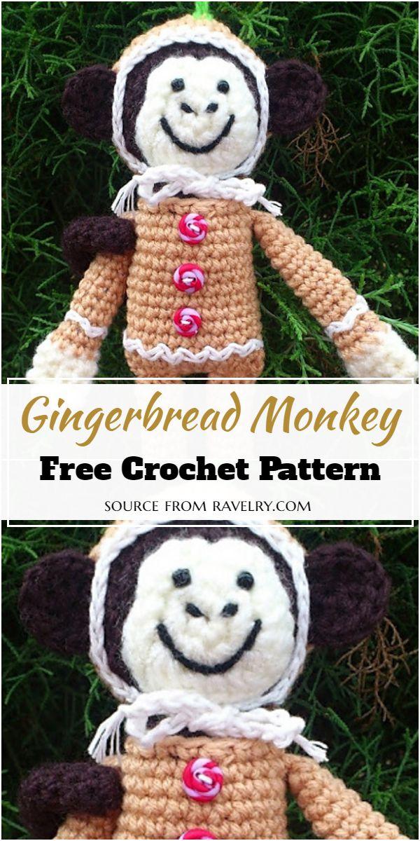 Free Crochet Gingerbread Monkey Pattern