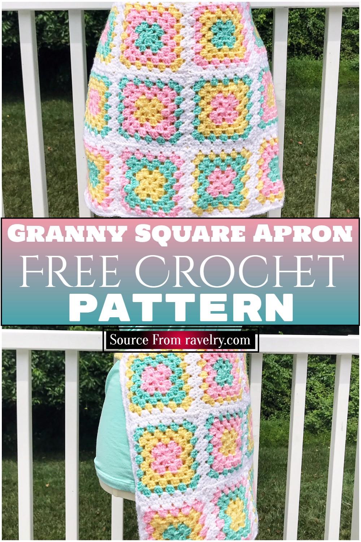 Free Crochet Granny Square Apron Pattern