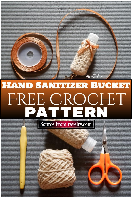 Free Crochet Hand Sanitizer Bucket Pattern