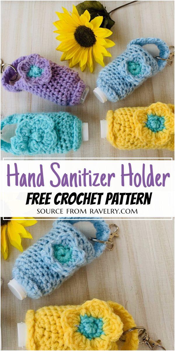Free Crochet Hand Sanitizer Holder Pattern
