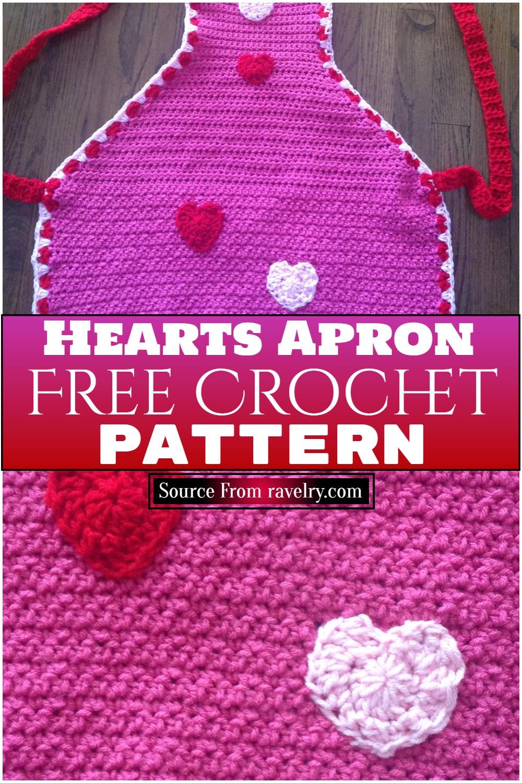 Free Crochet Hearts Apron Pattern