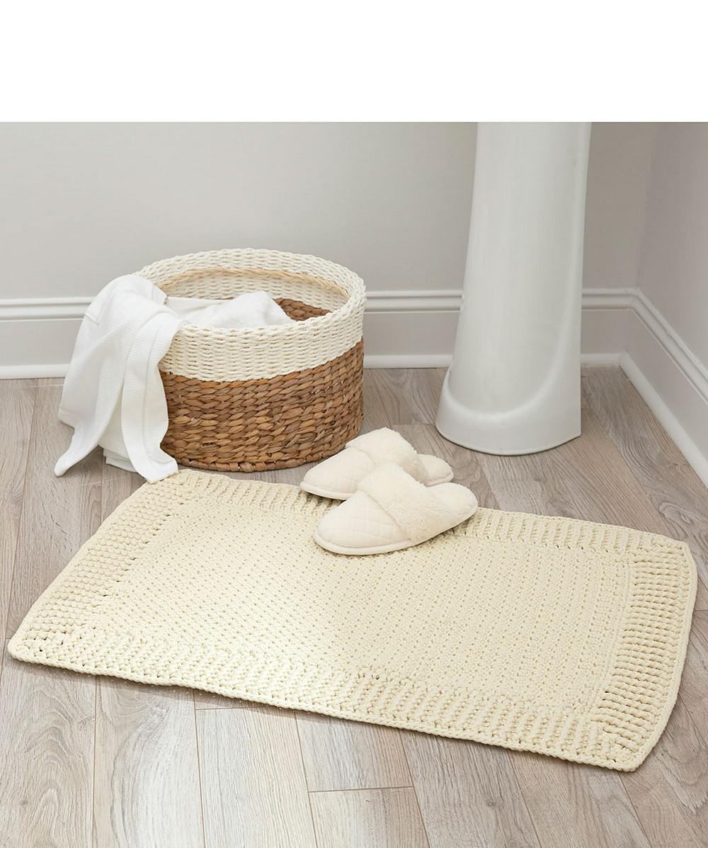 Free Crochet Home Spa Bath Mat Pattern