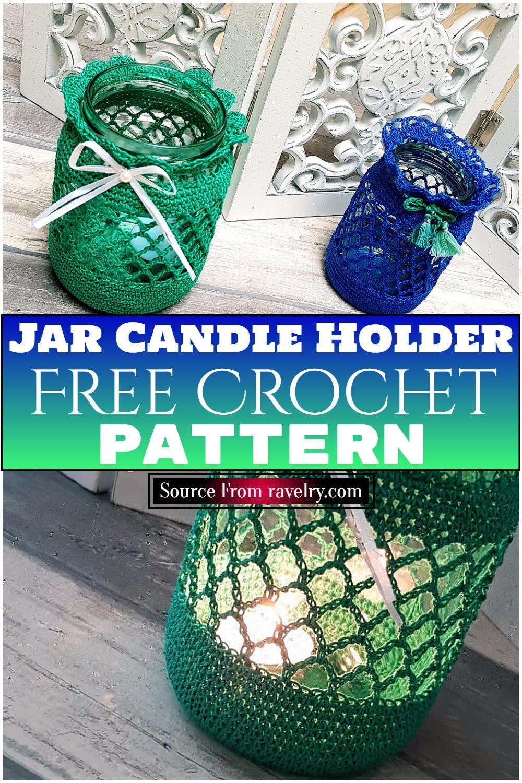 Free Crochet Jar Candle Holder Pattern 2