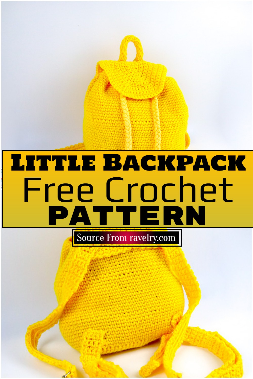 Free Crochet Little Backpack Pattern