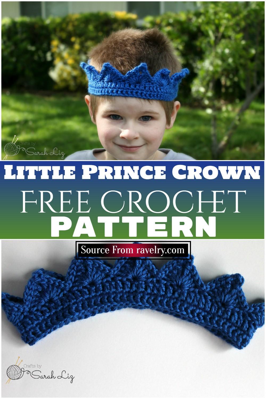 Free Crochet Little Prince Crown Pattern