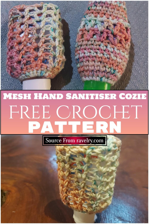 Free Crochet Mesh Hand Sanitiser Cozie Pattern