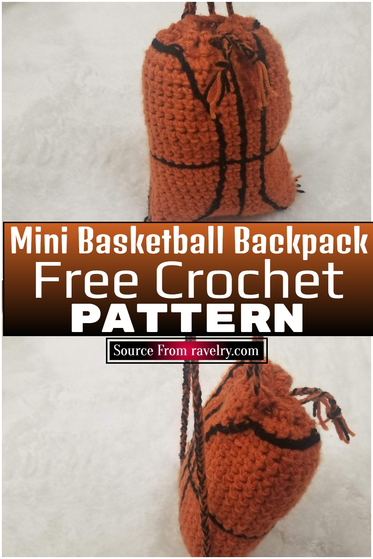Free Crochet Mini Basketball Backpack Pattern