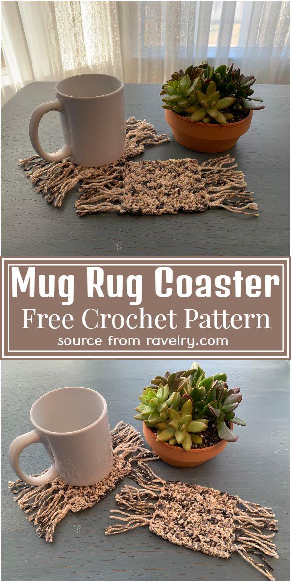 Free Crochet Mug Rug Coaster