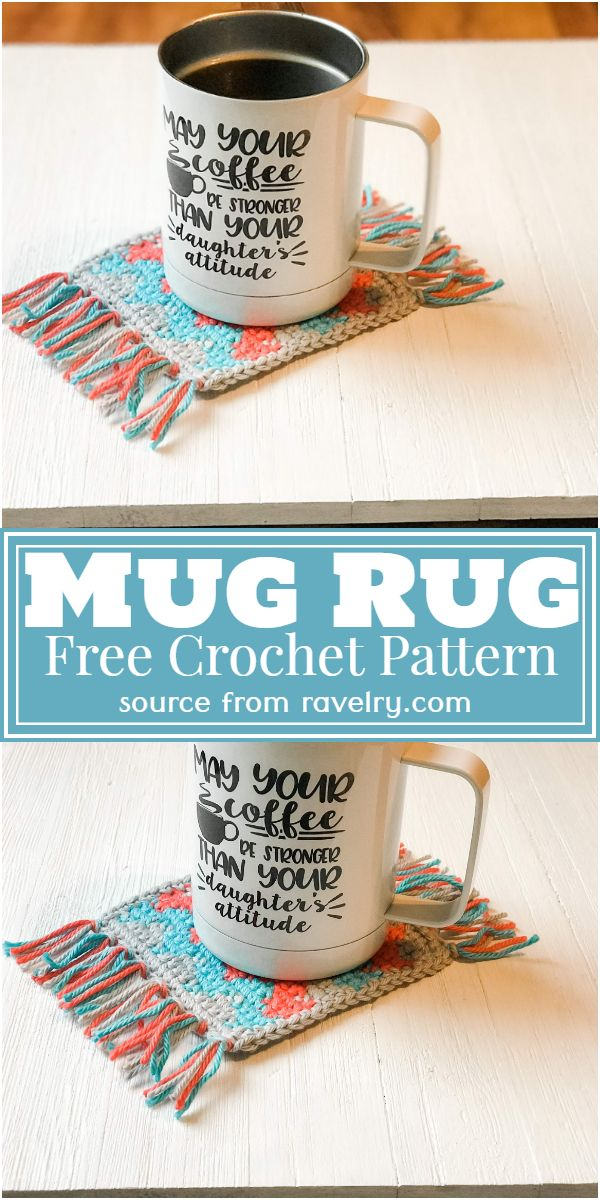 Free Crochet Mug Rug Pattern