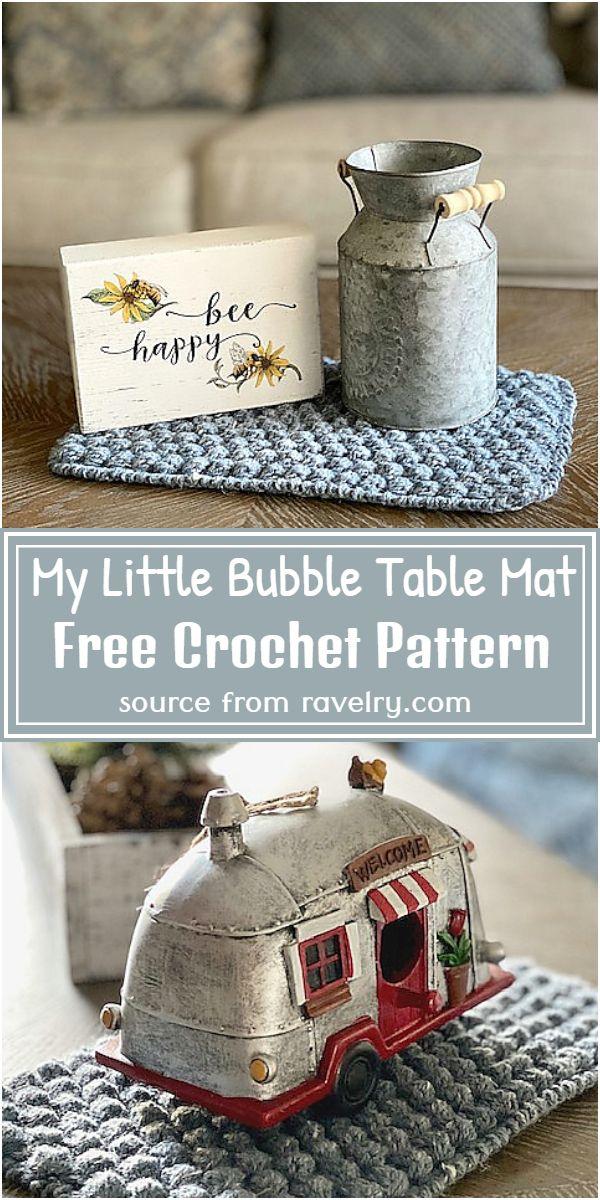 My Little Bubble Table Pattern