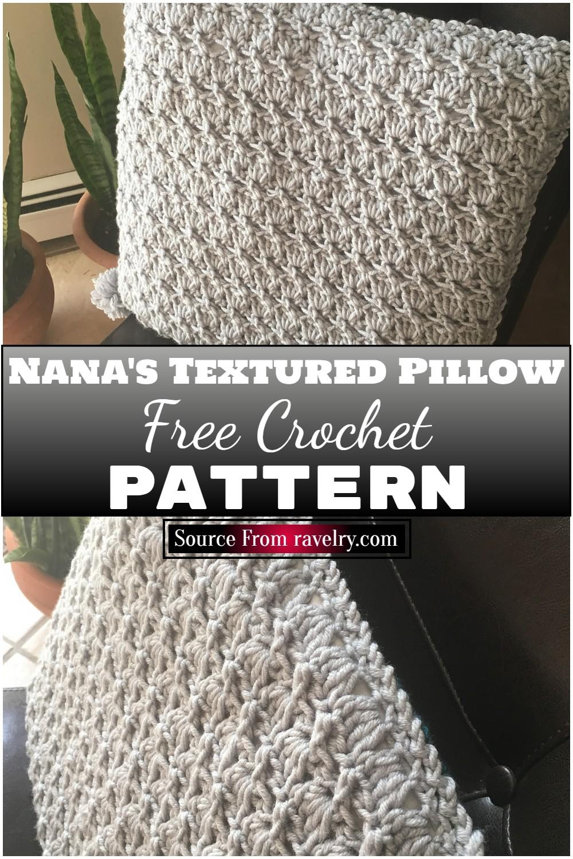 Free Crochet Nana's Textured Pillow Pattern