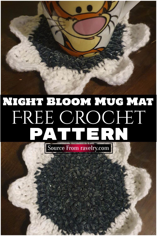 Free Crochet Night Bloom Mug Mat Pattern
