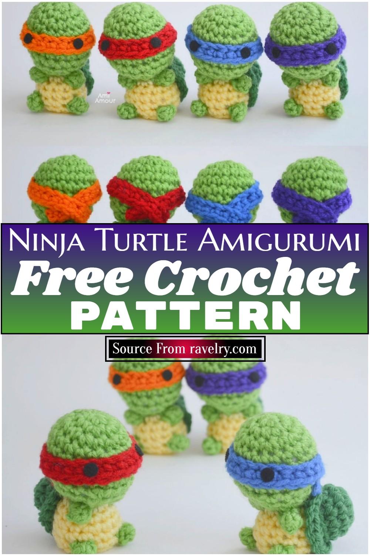 Free Crochet Ninja Turtle Amigurumi Pattern